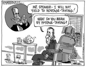 cartoon Obama calls Boehner
