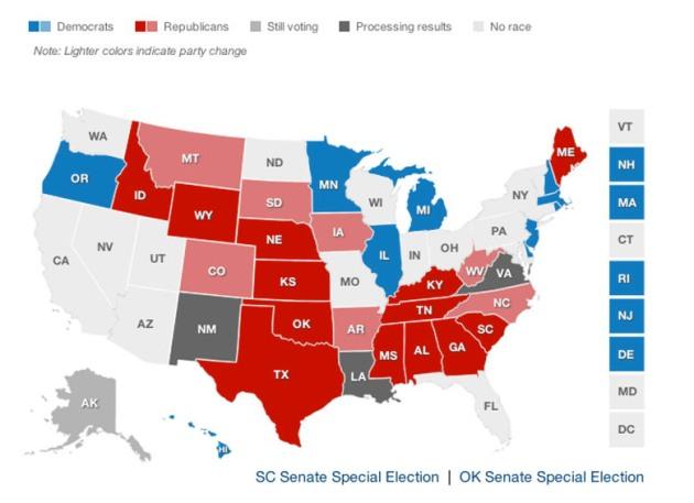 Senate election map