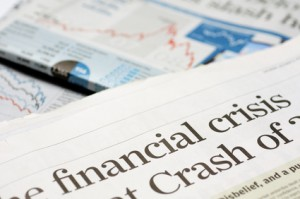 Financial crisis headline