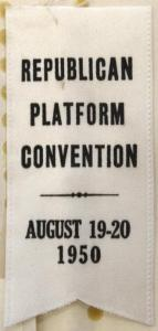 Republican Platform Convention ribbon 1950